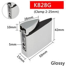 2 шт./лот K828G для 2 до 25 мм Стеклянная Доска топор в форме стеклянные зажимы хромированные цинковые полки из сплава крепежные скобы