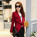 S - XXL 2015 new arrival spring womens Korean Spring Autumn fashion large lapel Slim thin casual suit jacket short blazers D4029