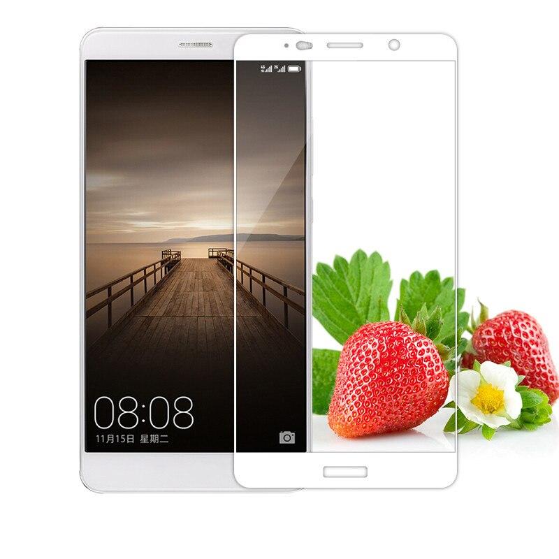 Silk Full Cover Tempered Glass For Huawei Enjoy 6s mate 7 8 9 10 S Nova plus Nova2 plus Anti Explosion Color Screen Protector