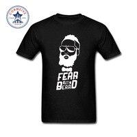 2017 Various Colors Funny Cotton Designer Harden Fear The Beard Cotton T Shirt For Men