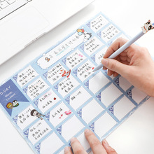 2 pcs 31 day Monthly plan Calendar Learning Schedule Periodic Planner Table Gift For Kids Study Planning Supplies