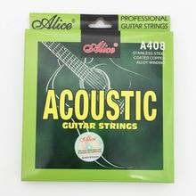 1 set Acoustic Folk Guitar Strings 011 012 Fit 36″ – 42″ Guitarra – Alice A408 Series