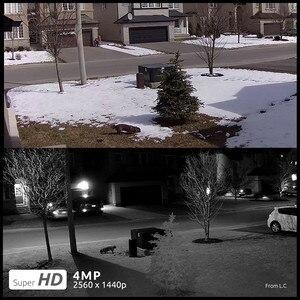 Image 4 - [2 حزمة] ريولينك IP كاميرا بو 4MP الصوت في الهواء الطلق يوم والرؤية الليلية عن بعد P2P رصاصة كاميرا مراقبة خارجية RLC 420 4MP