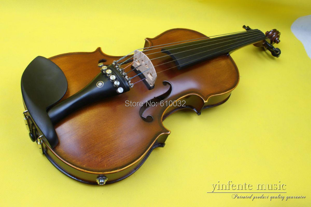 ONE 6 string 4/4 Violin Electric Violin Acoustic Violin Maple wood Spruce wood Big jack one 4 string 4 4 violin electric violin acoustic violin maple wood spruce wood big jack brown color