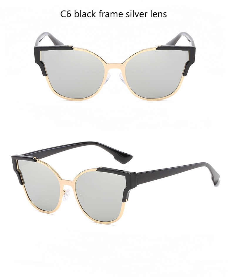 HTB1BTC0QVXXXXbVXVXXq6xXFXXXP - Women Cat Eye Luxury Fashion Designer Mirror Sunglasses