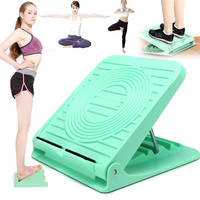 Adjustable Incline Slant Board Ankle Foot Calf Stretching Balance Exercise Massage Board Leg Raise Standing Rib Health Decive