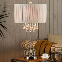 Luxurious Led Acrylic Crystal Table Lamp For Bedroom Bedside Lamp Mood Light Lampshade Desk Light Decor