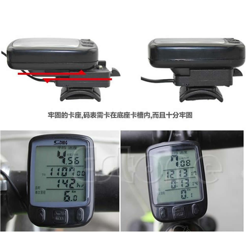 1pc Waterproof Backlight Cycle Bicycle Bike LCD Computer Speedometer Odometer With LCD Backlight bicycle accessories
