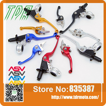 Free Shipping Aluminum CNC ASV 2ND Folding Clutch And Brake Lever For Dirt Bike/Pit Bike Universal Spare Parts
