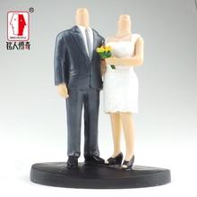 Wedding Cake Topper wedding gift custom avatar 3D studio portrait custom real clay dolls and other fixed body resin SR283