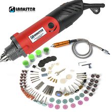 LANXSTAR 7500WS Rotary Electric Drill Dremel Style Electric Drill Machine Power Tool 6mm Mutifuction Chuck Chisel Flexible Shaft стоимость