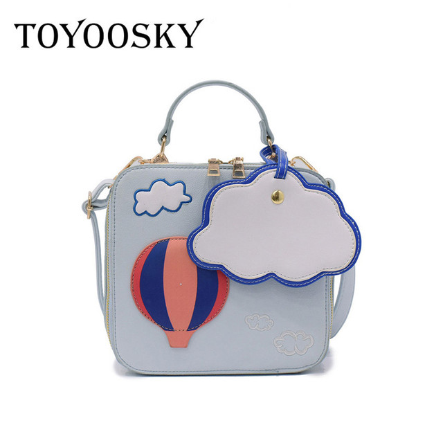 Toyoosky Fashion Personalized Handbags Air Balloon Priting Mini Box Brand Original Design Crossbody Bags For Women