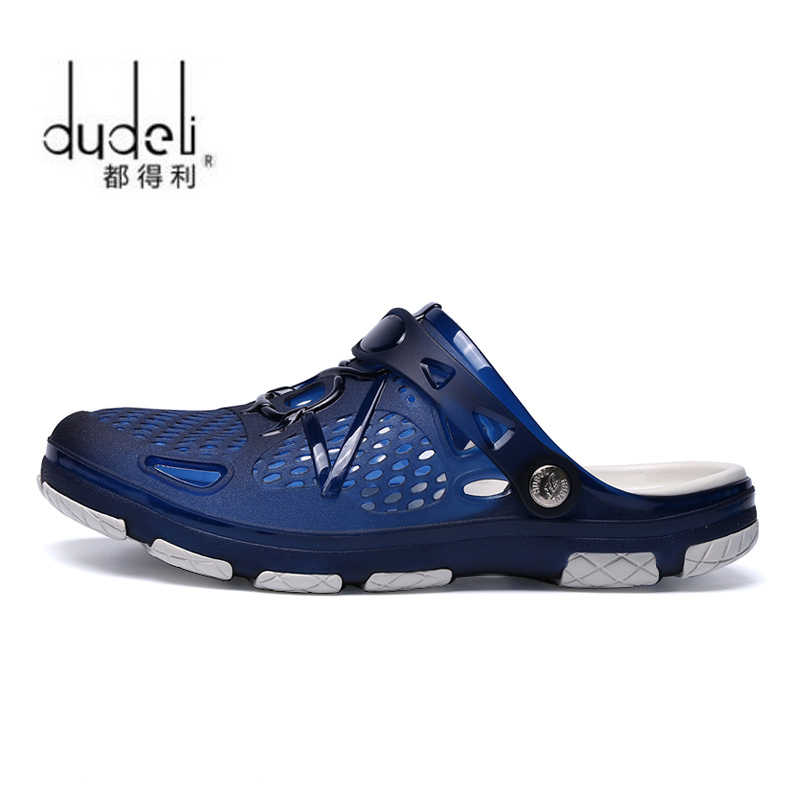 5a36b5ac02de49 ... DUDELI 2018 New Arrival Men Summer Beach Slipper Breathable Water Sandals  Male Gardening Shoe Hollow Out ...