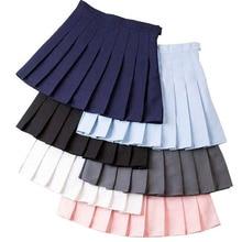 Плиссированная теннисная юбка с высокой талией для девочек, короткое платье с трусами, тонкая школьная форма для женщин, юбки для бадминтона для болельщиков