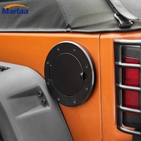 Black Powder Coated Steel Gas Fuel Tank Gas Cap Cover Accessories For 07 16 Jeep Wrangler