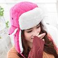 2016 Plum Red Winter Bomber Hats For Women Outdoor Thickening Suede Fur Earflap Keep Warm Snow Caps Russian Girl Ski Bomber Hat
