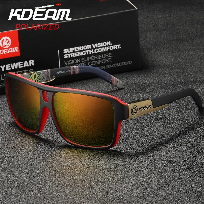 KDEAM Polaroid Brille Männer Sport brillen Mit Harten fall Platz Sonnenbrille frauen Marke Fahren Polarisierte Gläser Outdoor KD520