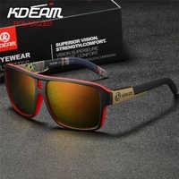 KDEAM Polaroid gogle męskie okulary sportowe z twarda obudowa kwadratowe okulary przeciwsłoneczne damskie marka jazdy okulary z polaryzacją na zewnątrz KD520