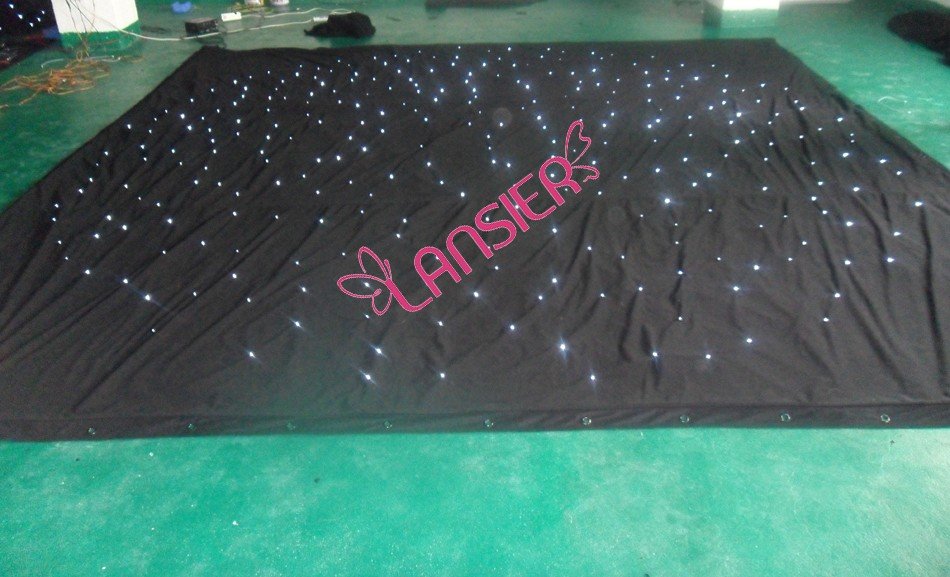 3-meter-x-6-meter-white-lights-black-fireproof-velvet-wedding-stage-led-star-curtain-backdrops