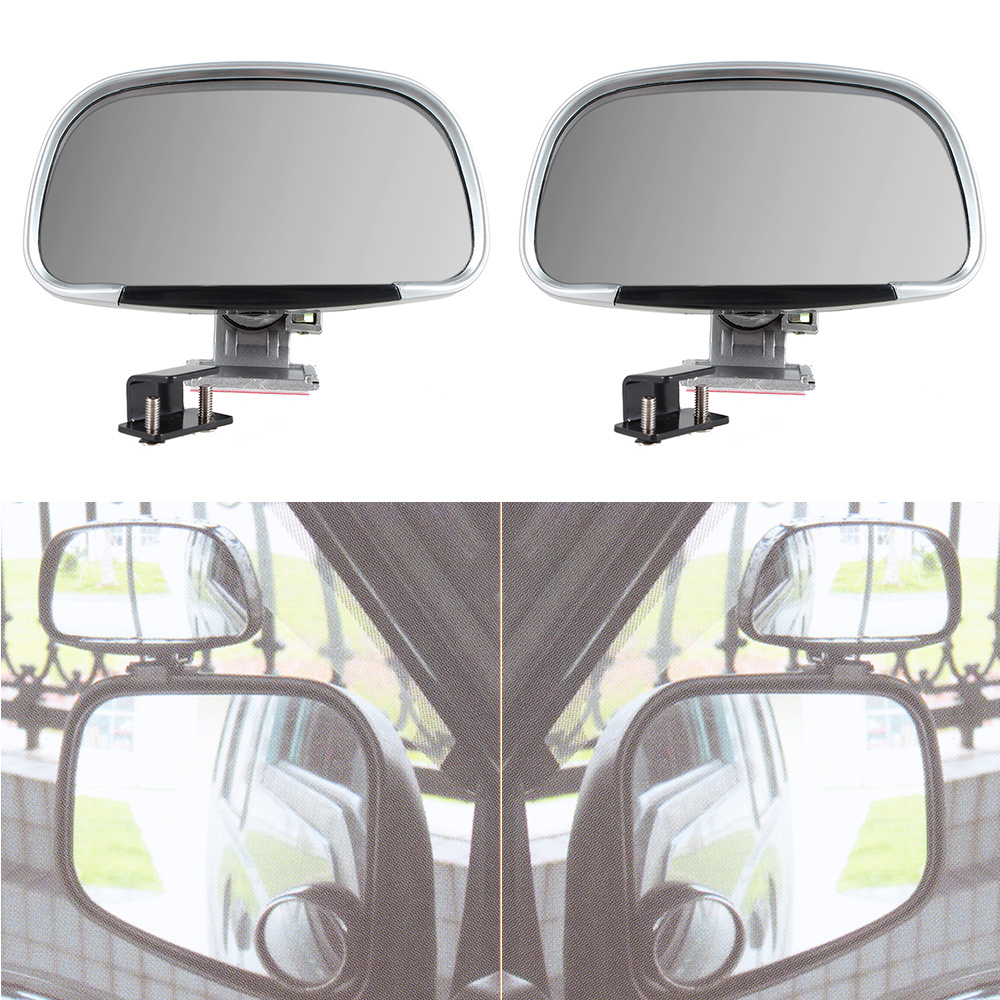2pcs Vehicle Universal Wide Angle RearView Mirrors Car Side Blindspot Blind Spot Mirror  ...