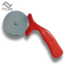 Stainless Steel Cutter Pizza Knife Cake Tools Wheels Scissors Ideal for Pizza, Pies, Waffles and Dough Cookies