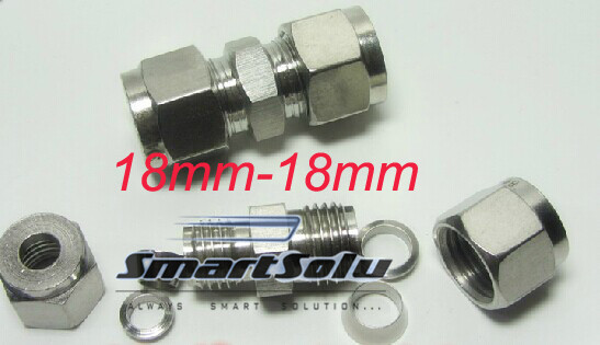 Free Shipping 2pc Lots For 18mm Tube Stainless Steel