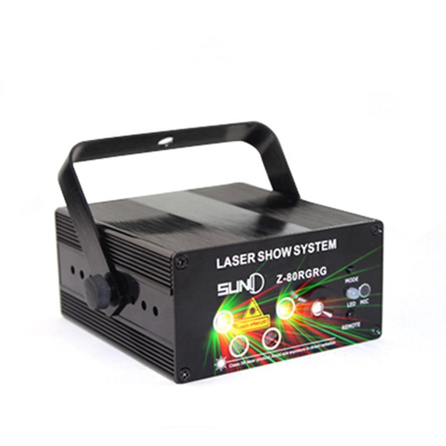 ФОТО RG RG Laser Projector Stage Light Effect Blue 3Lens 40 Or 5 Lens 80 Patterns led DJ Disco Bar Show Home Professional Xmas Light