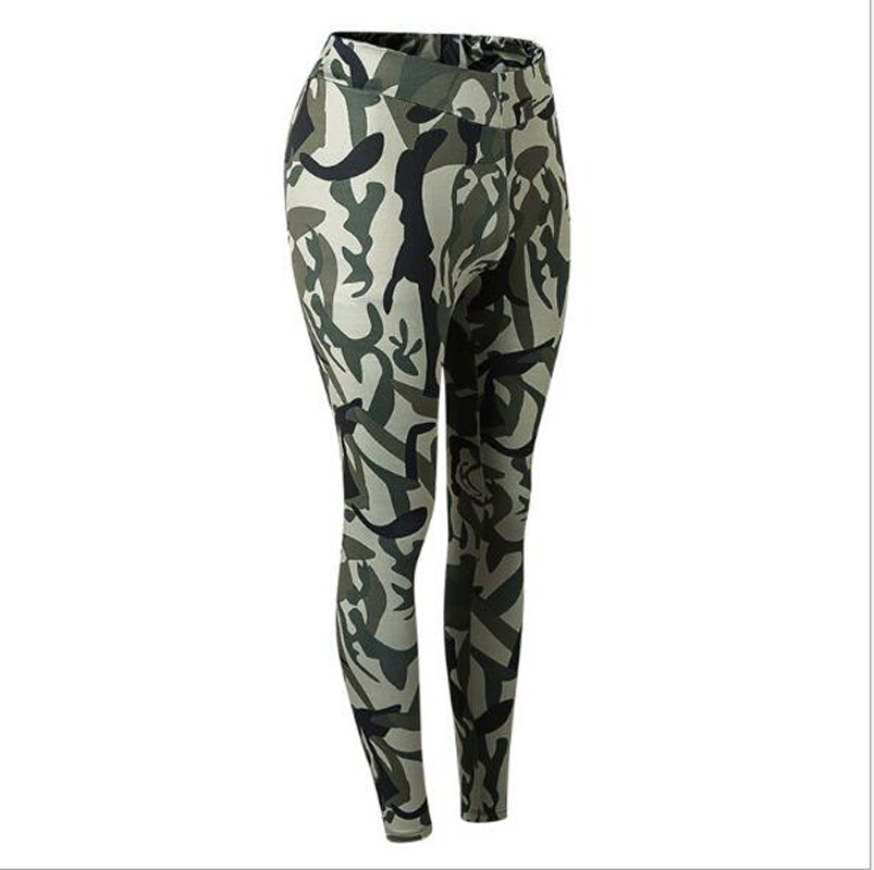 Fitness Leggings Women Camouflage Print Skinny push up jeggings for girls stretch work out sexy trousers elastic Pants