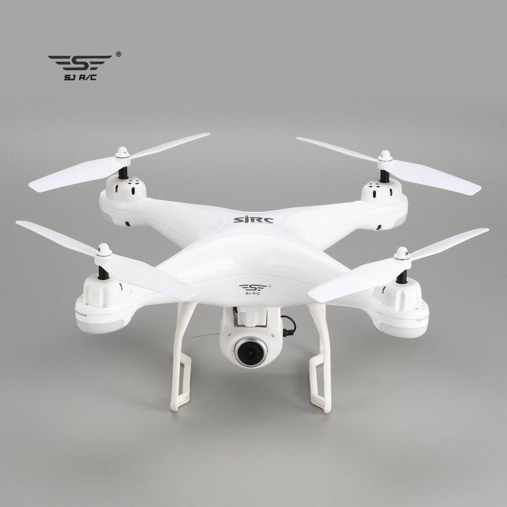 SJ R/C S20W Drone with Camera FPV 720P/1080P Selfie Altitude Hold Drone Headless Mode Auto Return Hover GPS RC Quadcopter