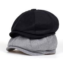 2018 nowe marki Beret mężczyźni kobiety wełna Tweed kapelusze newsboy czapki Gatsby ośmiokątna Czapka z wełny Vintage brytyjski kapelusz akcesoria tanie tanio Berety Wełna bawełna Patchwork S7714 Unisex VORON Formalne Dorosłych 55-58cm