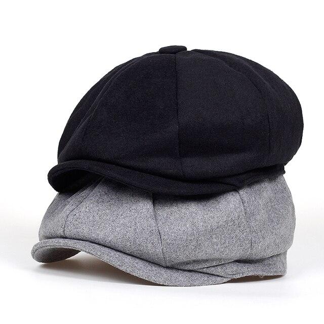 nueva sombreros mujeres 2018 lana Tweed boina marca Newsboy hombres zdwPOw 3768c9fb2cb