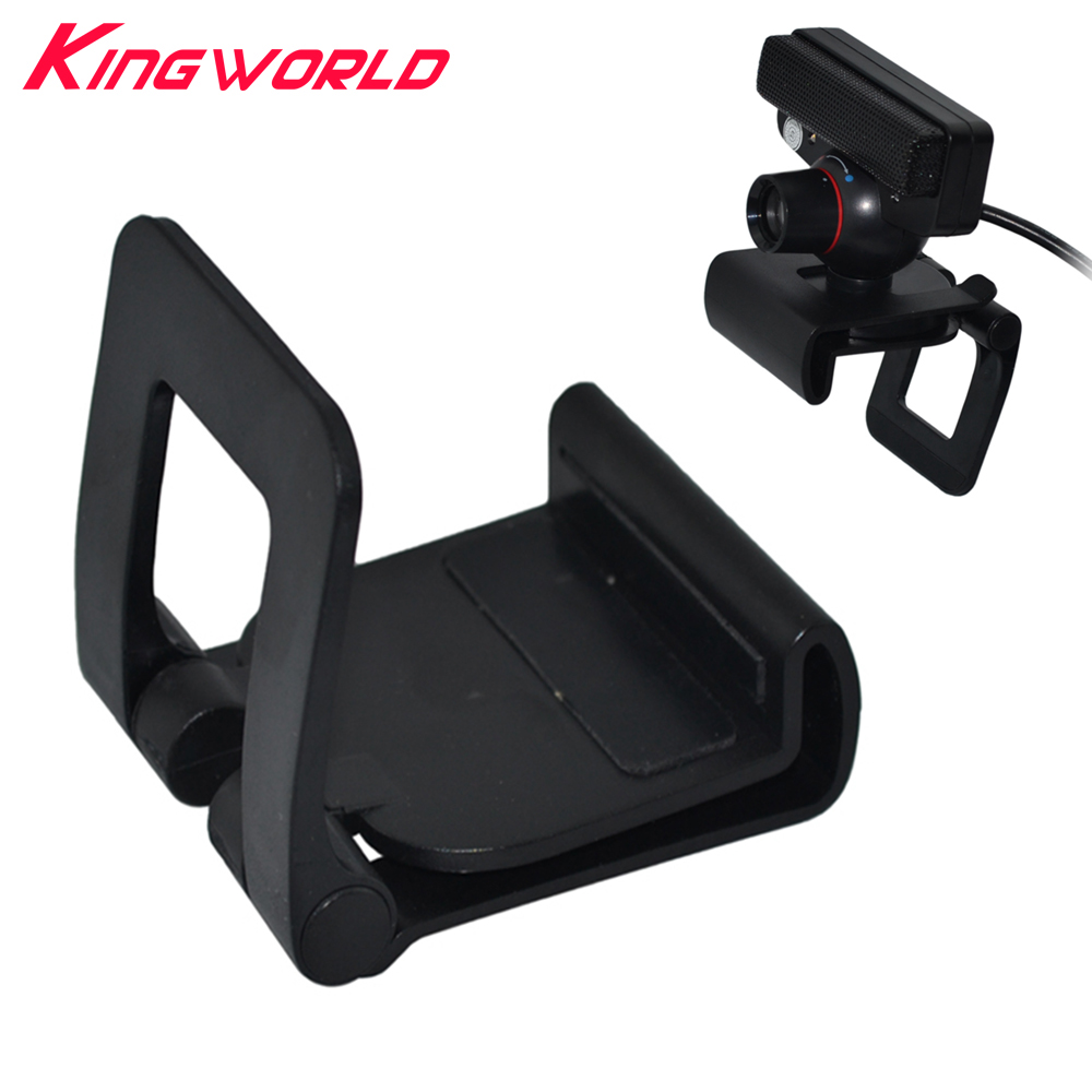 Hight quality Black TV Clip Bracket Adjustable Mount Holder Stand For Sony Playstation 3 for PS3 Move Controller Eye Camera