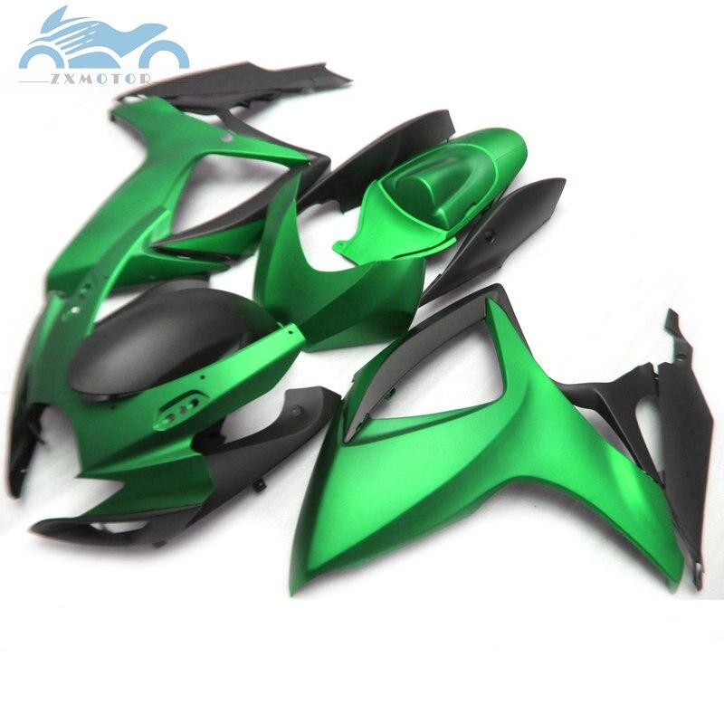 שדרוג שלך הזרקת Fairing לסוזוקי GSXR 600 2006 2007 GSXR600 750 ABS מעטפת ערכת GSXR 750 K6 06 07 ירוק שחור OL3