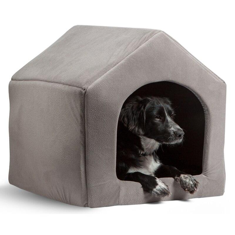 Hohe Qualität Pet Produkte Luxus Hund Haus Gemütlich Hund Bett Welpen Zwinger 5 Farbe Haustier Schlafen Bett Katze Kissen Kätzchen matten Pet Shop