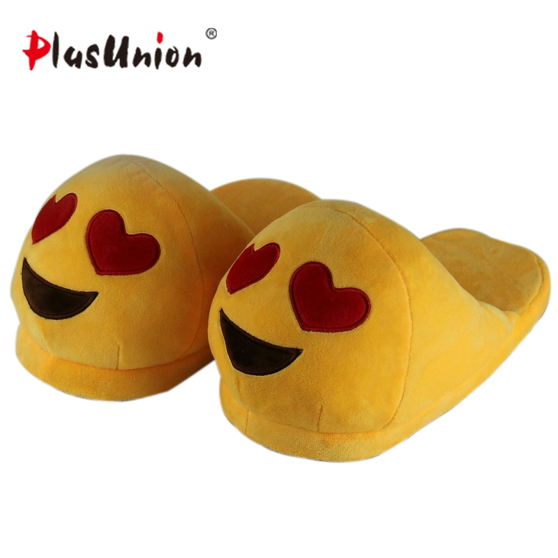 emoji slippers women cute indoor warm shoes adult plush slipper winter furry house animal home cosplay costumes autumn pantoufle 2017 totoro plush slippers with leaf pantoufle femme women shoes woman house animal warm big animal woman funny adult slippers page 8
