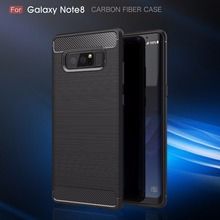 BYHeYang For Samsung Galaxy Note 8 Phone Cover Shockproof Silicone Texture Carbon Fiber Brushed TPU Case For Galaxy Note 8