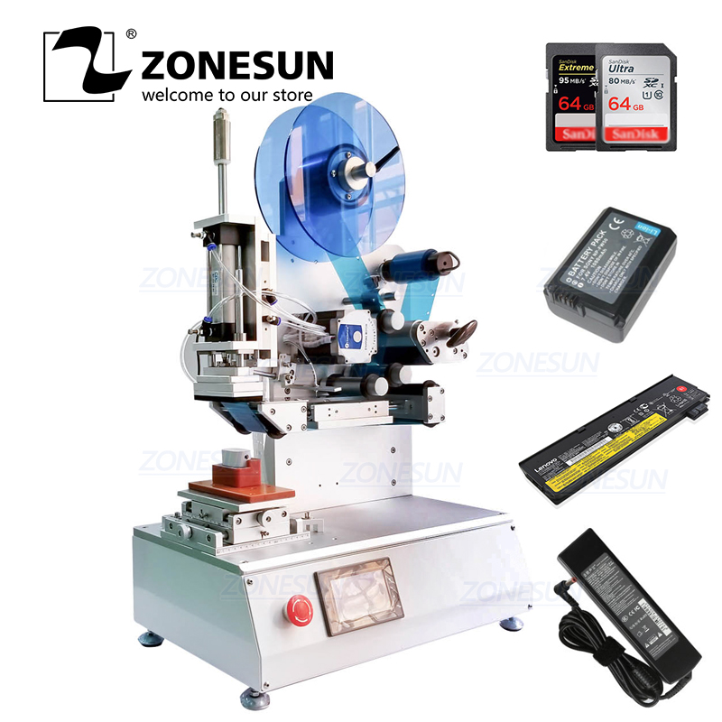 ZONESUN XL-T807 High Precision Labeling Machine Electronic Components Self-adhesive Label Transparent Label