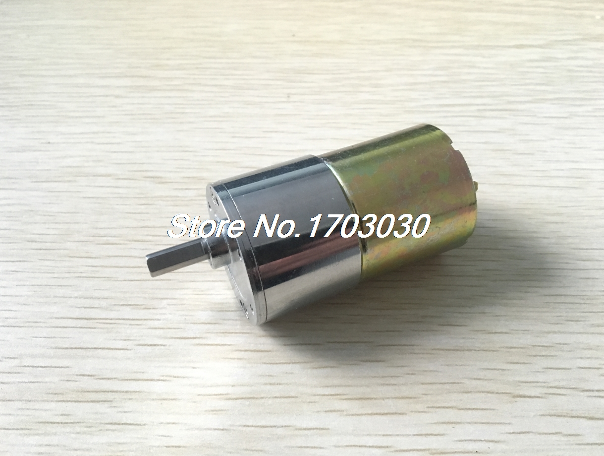 DC 24V 5000RPM 6mm Shaft Dia Speed Reduce Magnetic Electric Geared Box Motor цена