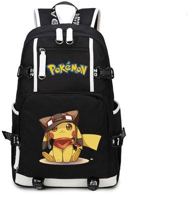 Poche monstres sac à dos Anime Pokemon Pikachu Cosplay Nylon sac d'école sacs de voyage