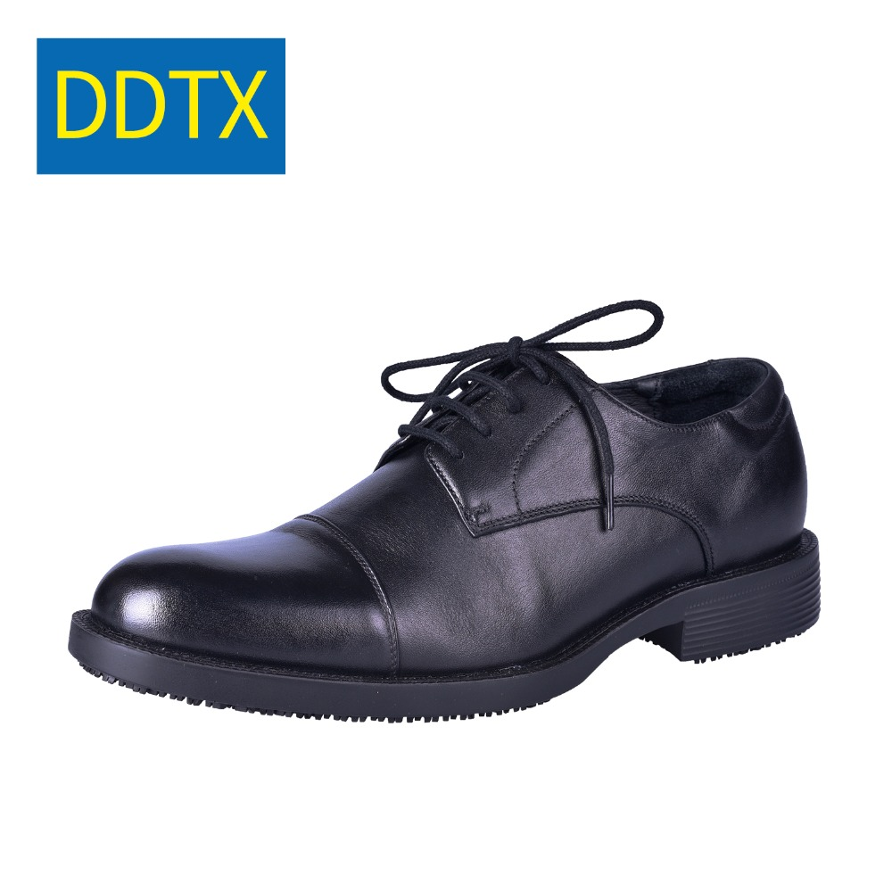 af8df0661530 DDTX Anti-Slip Lace up Work Shoes EH Protection Insulated Chef shoes  Leather Formal Dress