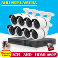 Video surveillance Security Camera System 1.3MP HD AHD Camera and 960P CCTV DVR  KIT System HDMI 1080P with 1TB HDD