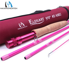 Maximumcatch 5WT 9FT Pink Fly Rod 4Pieces Medium-Fast Fly Fishing Rod For Ladies