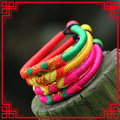 statement colorful fabric bohemian bracelet&bangle Pure Handmade Jewelry -New Original Ethnic,Chinese wind traditional bracelet