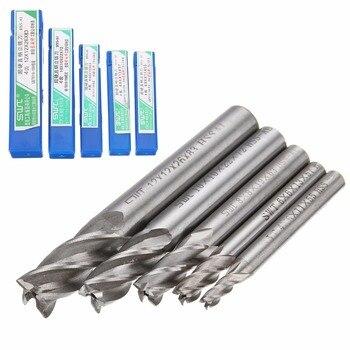 цена на 5pcs/set Straight Shank End Mill Cutter 4 Flute HSS Drill Bit 4/6/8/10/12mm For CNC Milling Tool