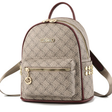 2020 Rivet Backpacks for Women Leather Backpack Luxury Designer Shoulder Bag Ladies Printing Backpacks For Girls School Bags Sac