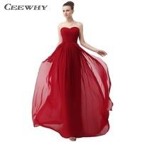Ceewhy милая шифоновое платье элегантные нарядные платья Robe demoiselle dhonneur красный Свадебная вечеринка платье Vestido De Festa
