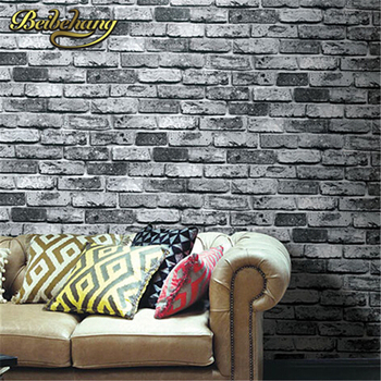 Faux Brick Walls | Beibehang Vintage Shabby Brick Deco Vinyl Wallpaper Roll Brick Stone Faux Realistic PVC Papel De Parede For Home Background Wall