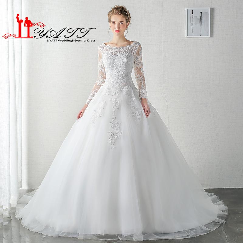 ᑎ‰LIYATT Real Photo 2016 Robe de mariage White Ivory Plus Size ...