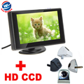 """2 in 1 Auto Parking Assistance System 4 color General Car Rearview Camera+4.3""""TFT LCD car Monitor HD 170 Angle car backup camera"""