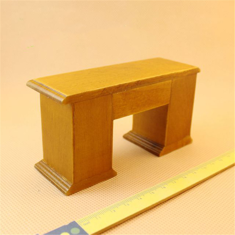 Doub K 1:12 Wooden minature desk & chair for dolls Dollhouse Furniture toy pretend play toys for children girls kids gifts
